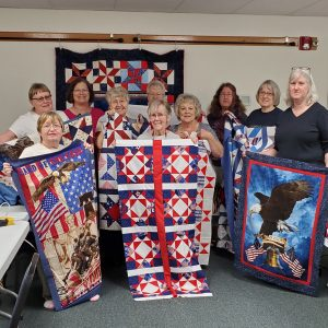 There were 11 quilters (one taking photo) who attended the workshop. Thank all of you who attended & helped.