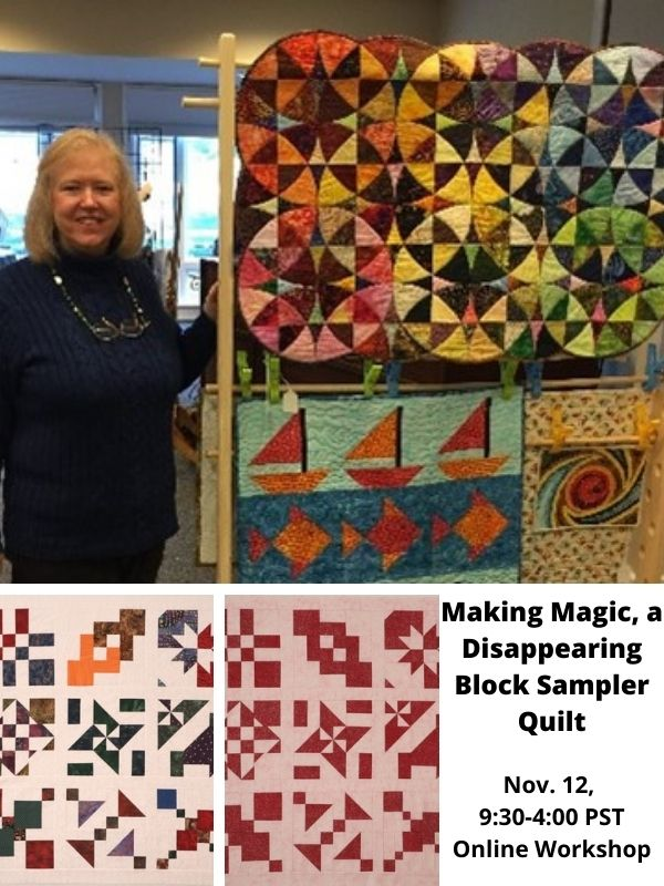 Brita Nelson, The Questioning Quilter Workshop